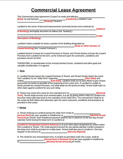 Top 4 Free Commercial Lease Agreement Templates and Tips