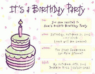 magnificent sample birthday card invitation modern simple cake ...