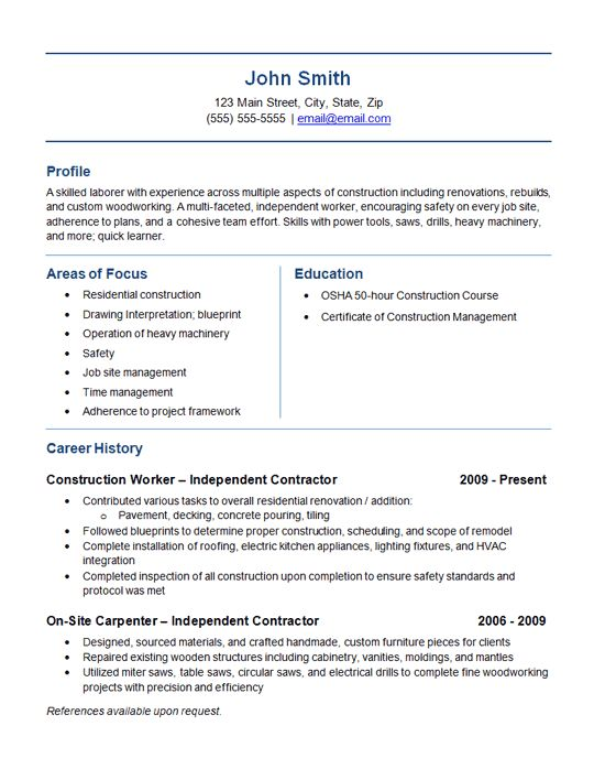 Download General Contractor Resume | haadyaooverbayresort.com