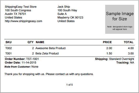 What do ShippingEasy default packing slips look like ...