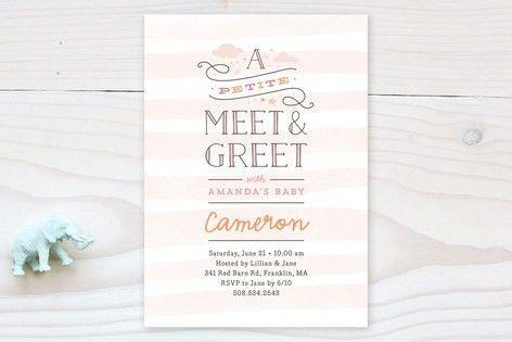 Petite Meet & Greet Baby Shower Invitations by Jen... | Minted