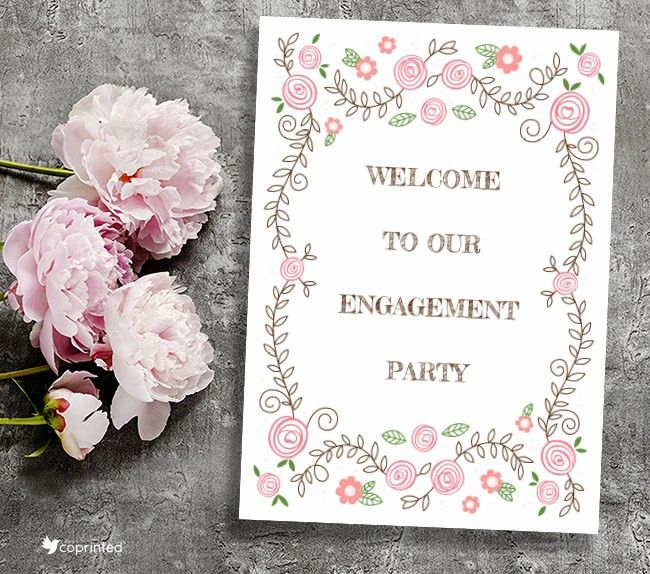 coPrinted | blog » 12 Free Engagement Party Printables