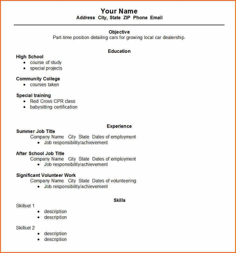 4 Grad School Resume Template - Budget Template Letter