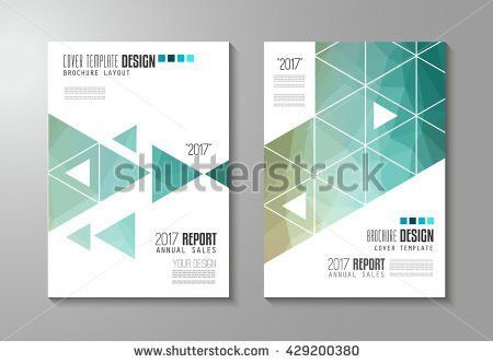 Annual Report Leaflet Brochure Flyer Template Stock Vector ...