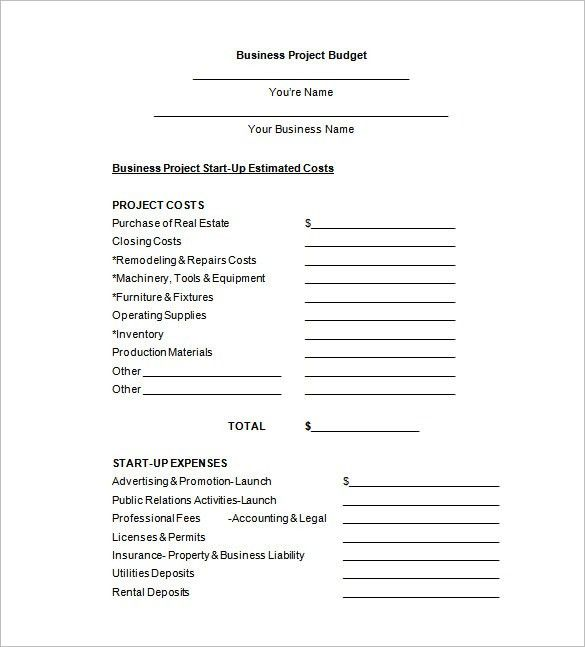 Budget Proposal Template – 11+ Free Sample, Example, Format ...