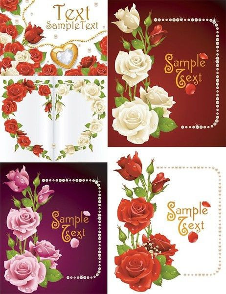 Romantic love greeting card free vector download (16,193 Free ...