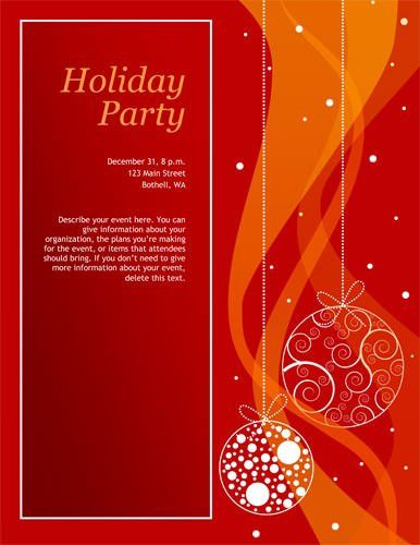 Free Christmas Party Invitation Templates Word | cimvitation