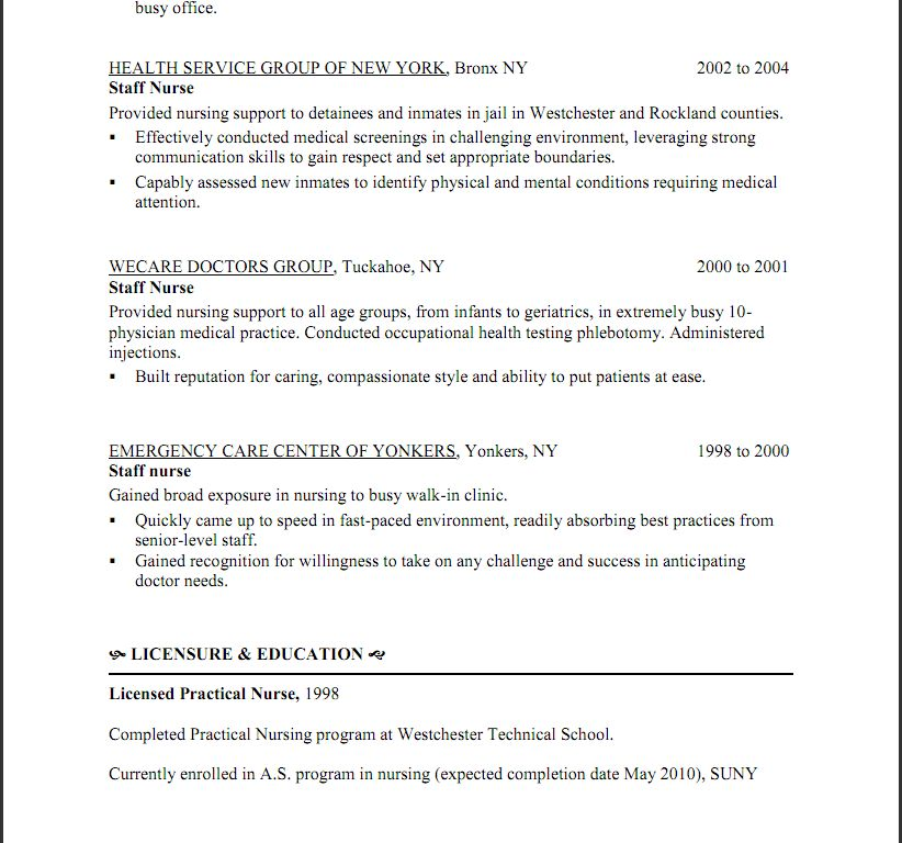 Lpn Resume For Nursing Home. licensed practical nurse lpn resume ...