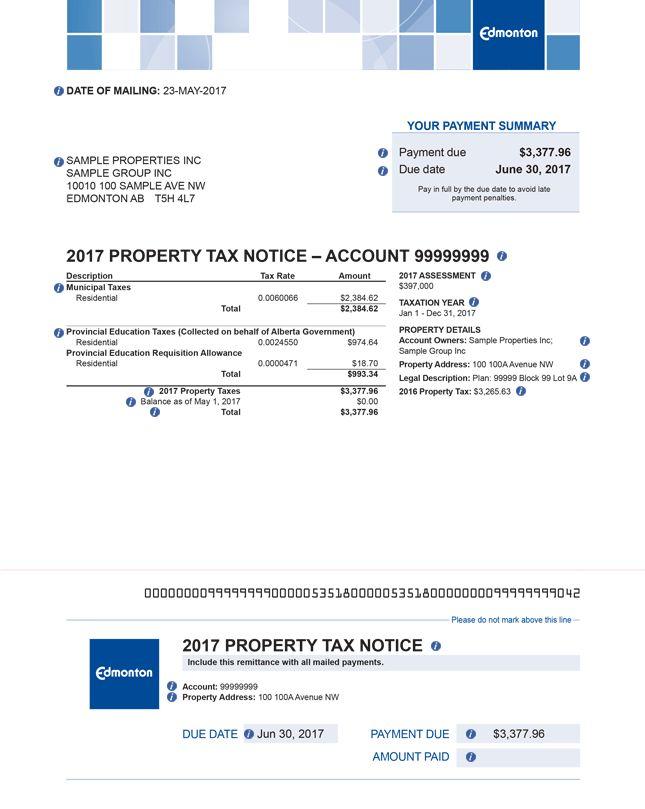 Your Tax Notice :: City of Edmonton