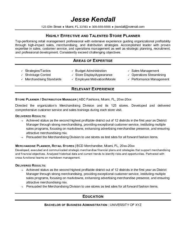sample resume for retail store sales retail lewesmr sample resume