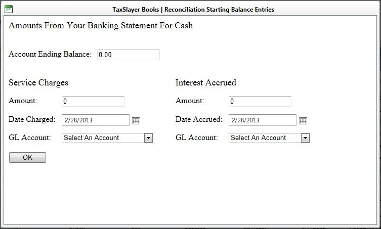 How do I enter my bank statement ending balance for my ...
