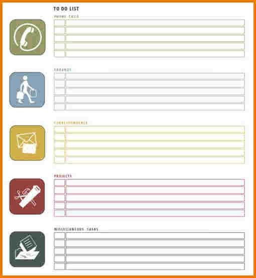 To Do Checklist Template. To Do List Organizer Is Needed If You ...