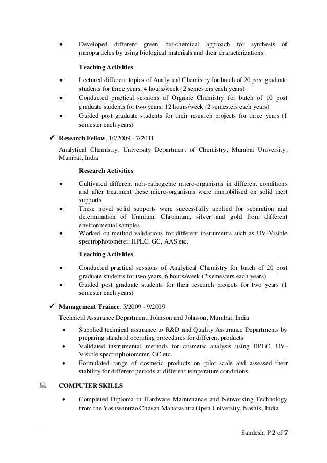 CV-Sandesh Tetgure (PhD Analytical Chemistry)