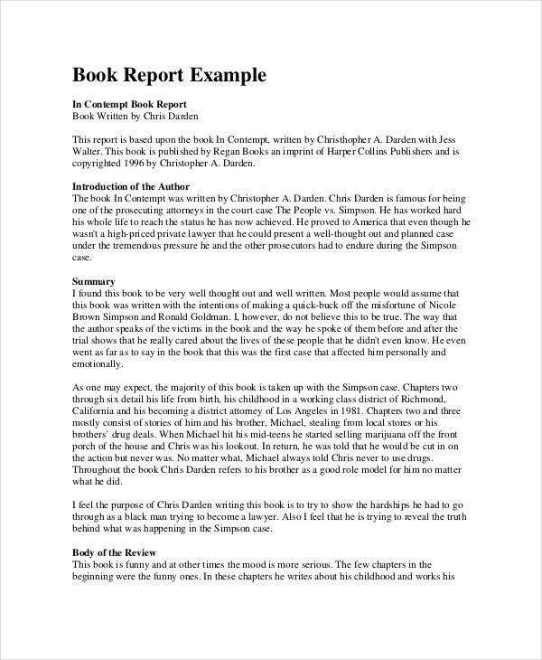 Book Report Format - 8+ Free Word, PDF Documents Download | Free ...