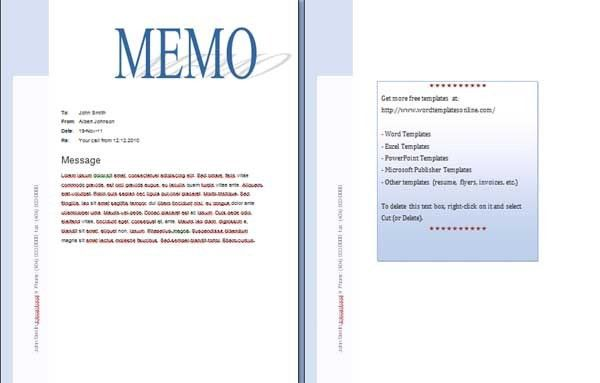 Memo Word Templates - Microsoft Word Templates