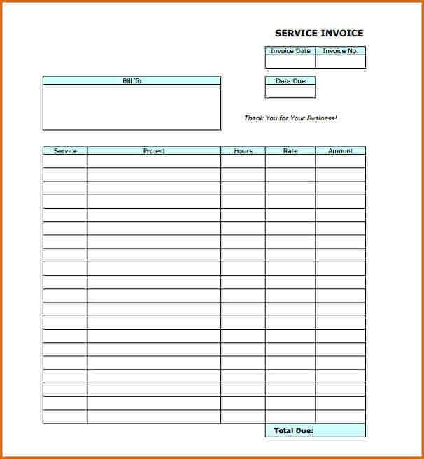 8+ blank invoice template pdf | Authorizationletters.org