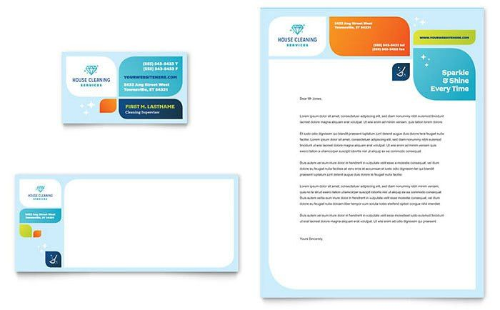 Cleaning Services Business Card & Letterhead Template - Word ...