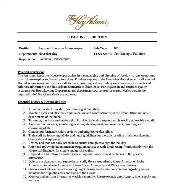Housekeeping Aide Resume | Template Design
