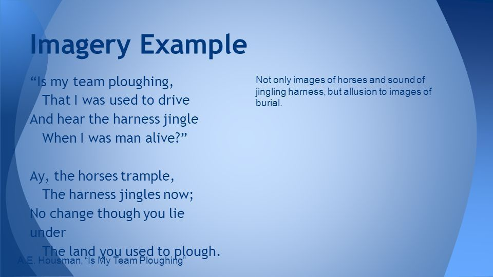 Imagery Anything that refers to a sense in a literary work - ppt ...