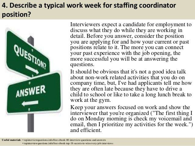 Top 10 staffing coordinator interview questions and answers