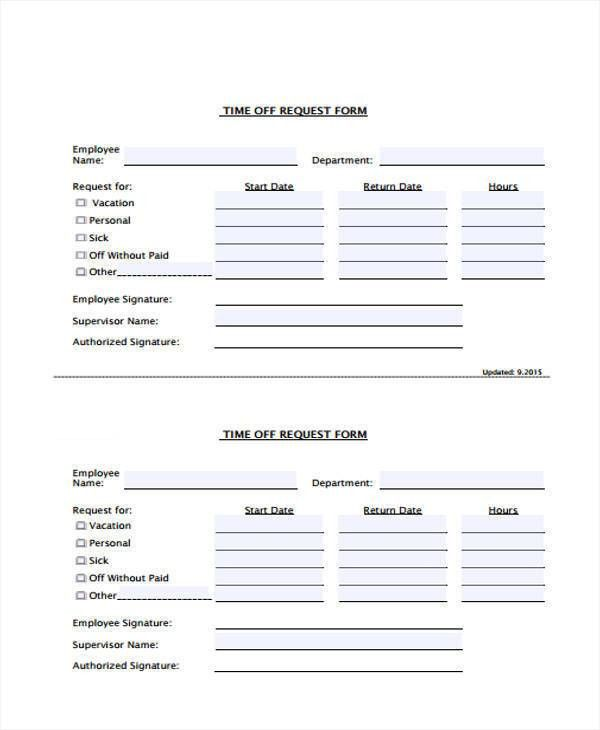 24+ Time Off Request Forms in PDF