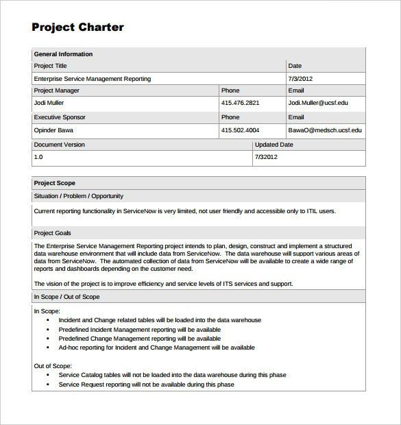 project charter template ppt project charter templateproject ...