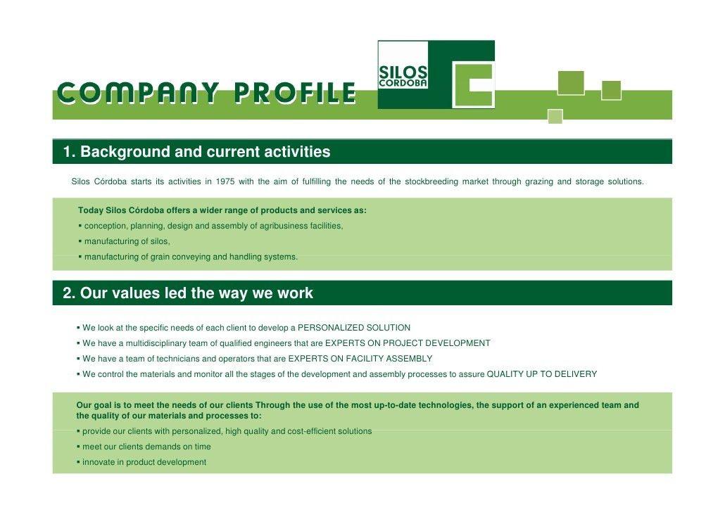 Silos Cordoba Company Profile - Reference list 2012 (English)