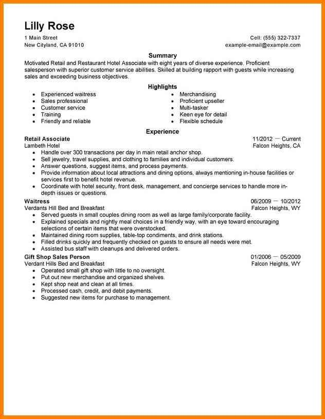 6+ clothing retail resume examples | cashier resumes