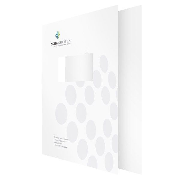 Custom Printed 2 Piece Tax Return & Report Cover w/ Window