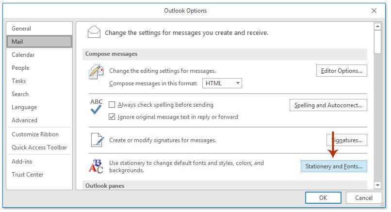 How to change default email template in Outlook?