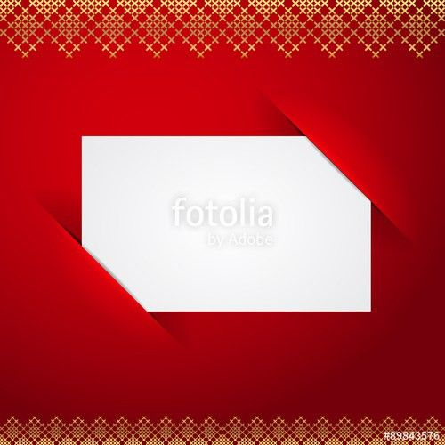 Christmas vector greeting card mock up, blank white paper template ...