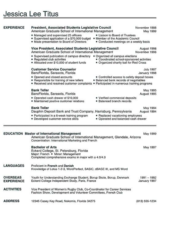 American Format Resume. Latex Professional Resume Template 15+ ...