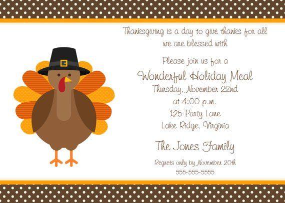 Printable Thanksgiving Dinner Party Invitation