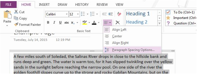Double Spacing Text in OneNote - The Lost Prophet