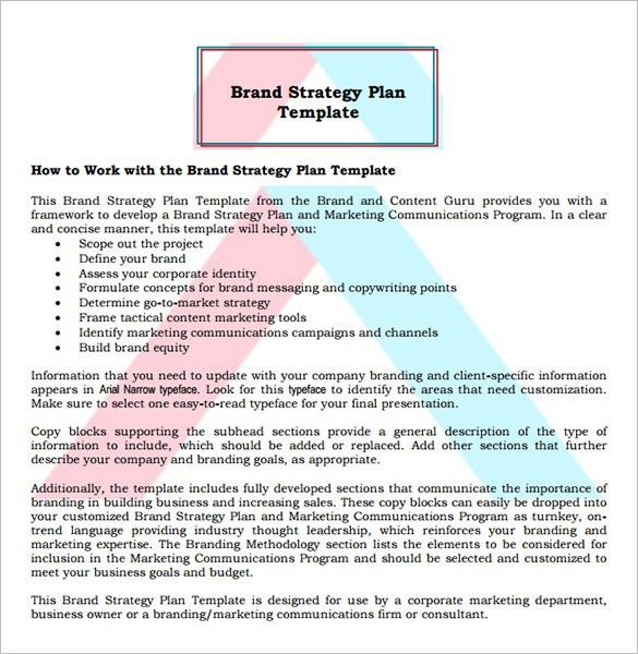 9+ Brand Strategy Templates - Free Word, PDF Documents Download ...