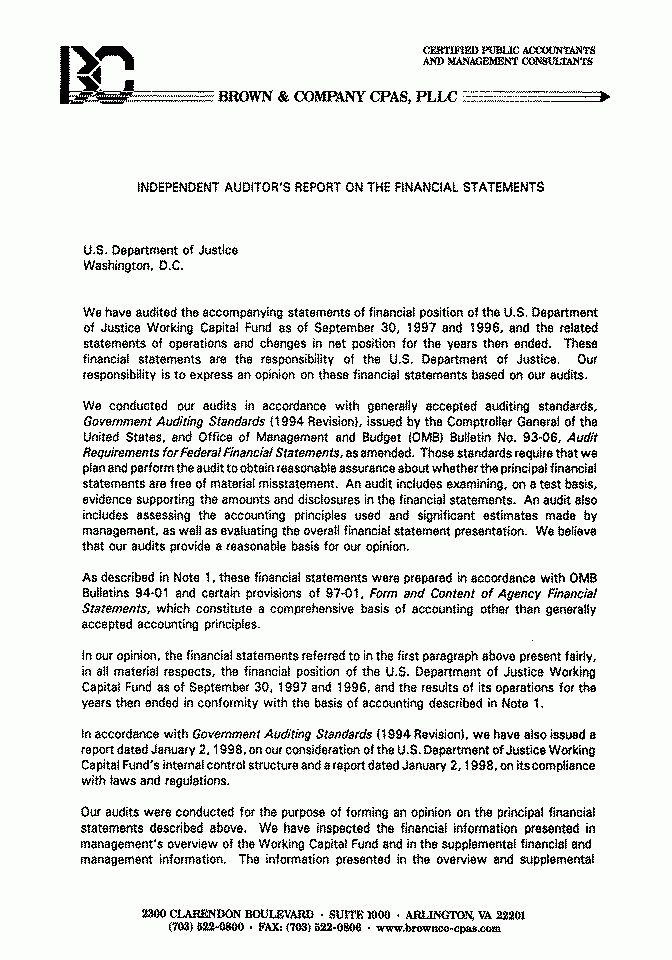 Audit Report 98-08A