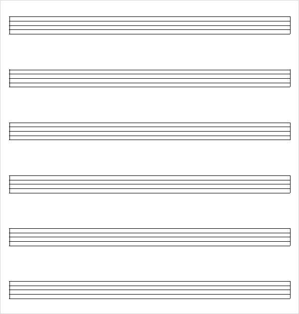 Music Staff Paper - 8+ Free Download for PDF , Word