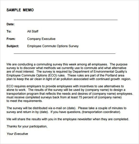 Sample Company Memo Template   6+ Free Documents Download In PDF, Word