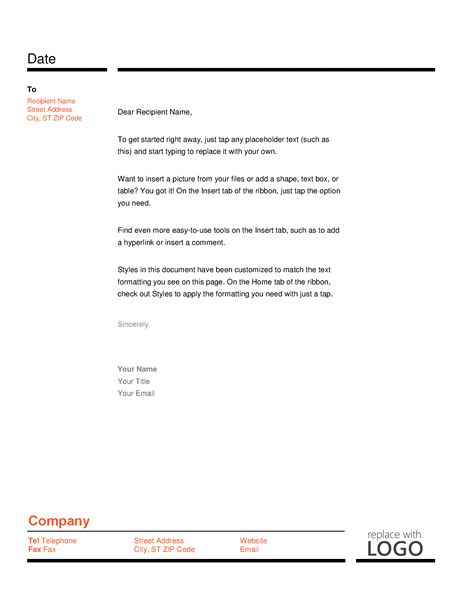 Resume cover letter announcing your job search - Office Templates