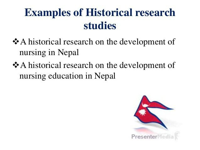 Historical research design