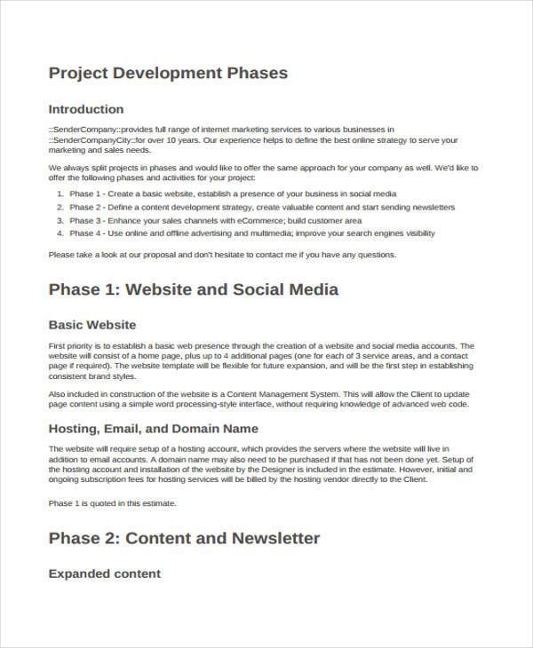 8+ Development Project Proposal Templates - Word, PDF | Free ...