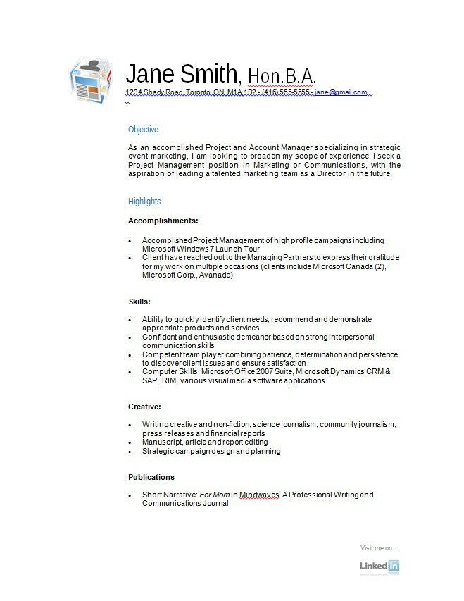 Free Basic Resume Templates Download. How To Write A Resume Free ...