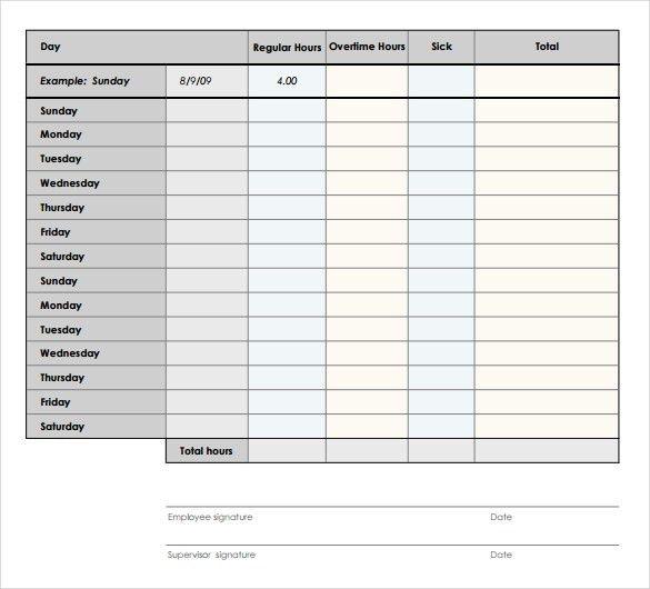 12+ Bi Weekly Timesheet Templates – Free Sample, Example Format ...