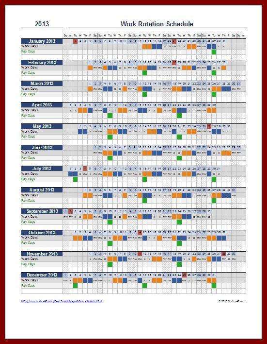 18 Work Schedule   sendletters.info