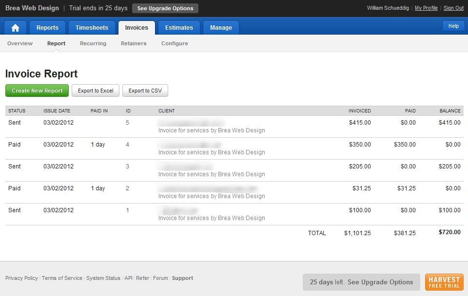 GetHarvest.com Review - Online Invoicing & Time Tracking Software ...