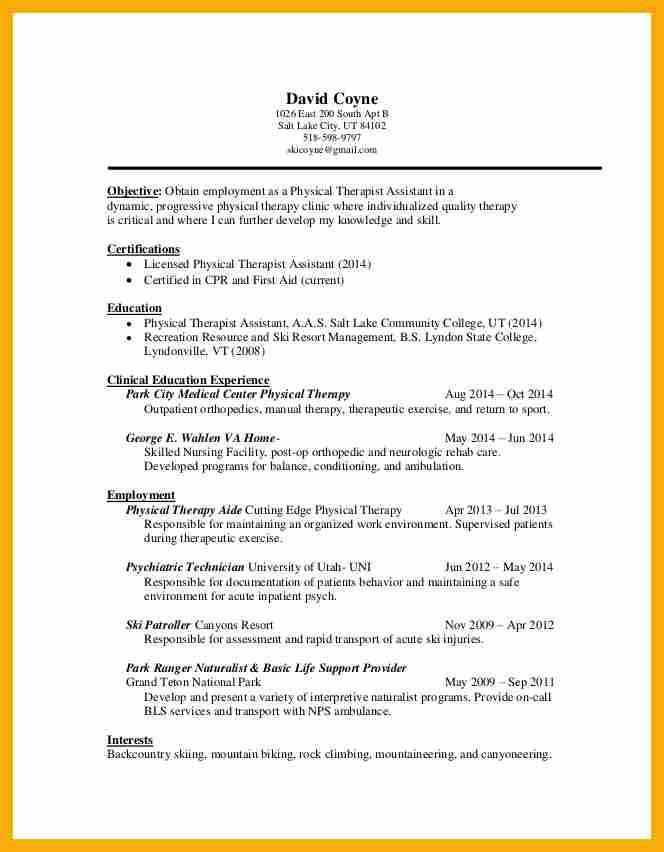 physical_therapy_assistant_resume_templates_new_graduatejpg ...