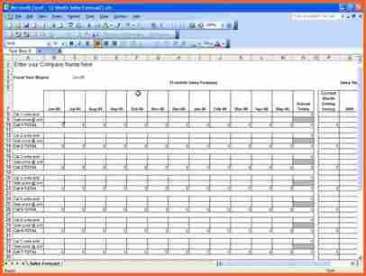 4+ sales template excel - Budget Template Letter