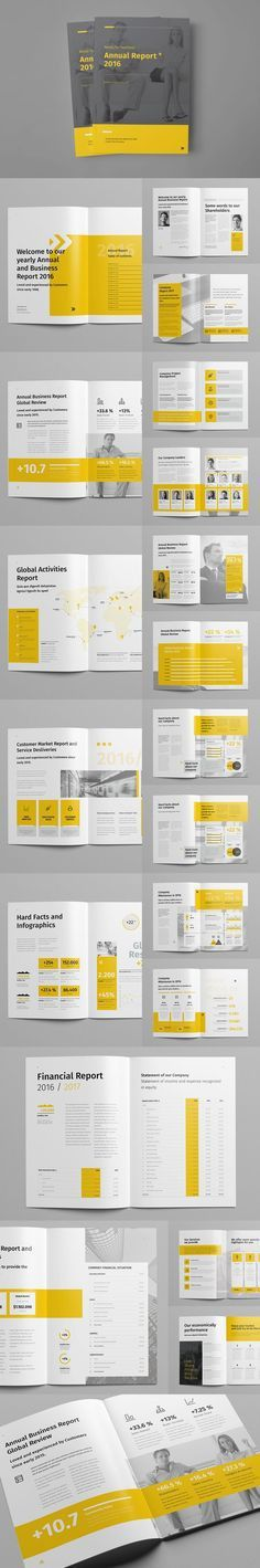 Annual Report Brochure Template InDesign INDD | Layouts / Grids ...