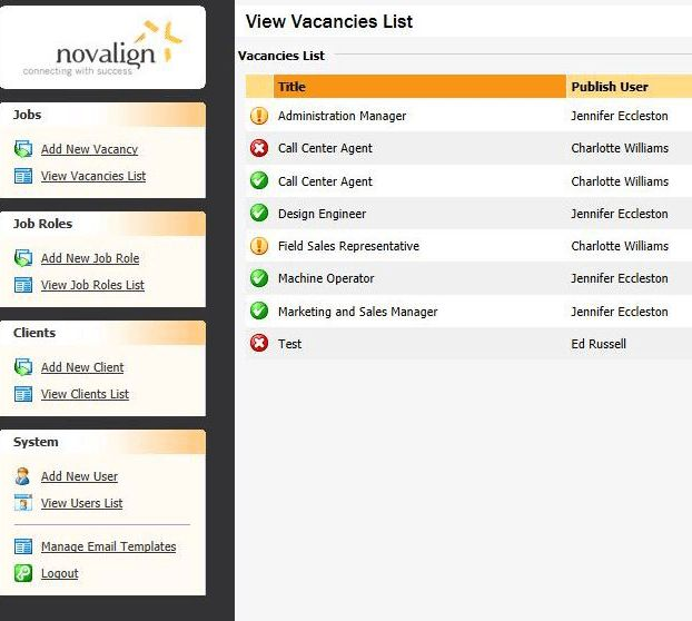 Novalign (RPO) - Applicant Tracking System