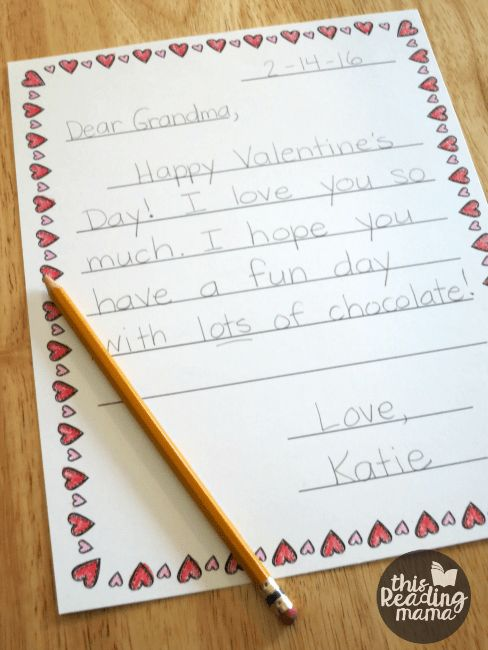 FREE Valentine Letter Templates for Kids - This Reading Mama
